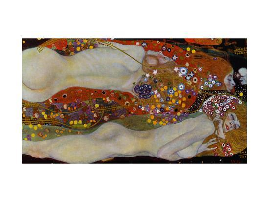 Water Serpents II, c.1907-Gustav Klimt-Premium Giclee Print