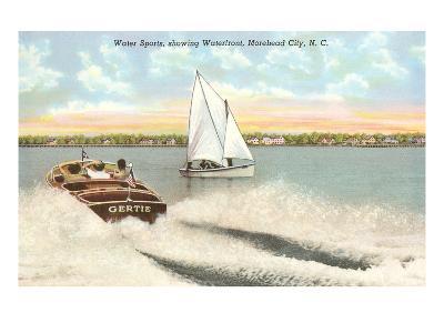 Water Sports, Morehead City, North Carolina--Art Print