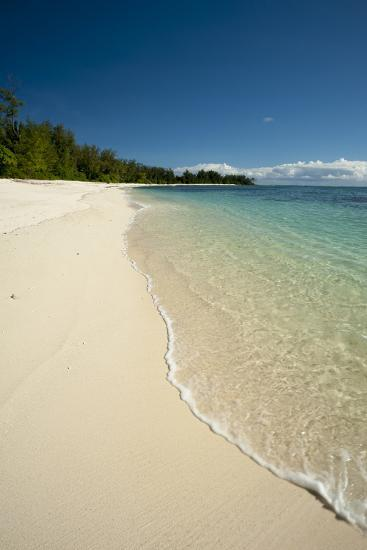 Water Surging Gently onto a Pristine, Sandy Tropical Beach-Sergio Pitamitz-Photographic Print