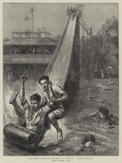 Water-Tobogganing, a Novel Amusement-Sydney Prior Hall-Giclee Print