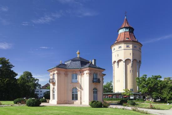 Water Tower and Pagodenburg Pavillon, Rastatt, Black Forest, Baden Wurttemberg, Germany, Europe-Markus Lange-Photographic Print