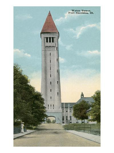 Water Tower, Ft. Sheridan, Illinois--Art Print