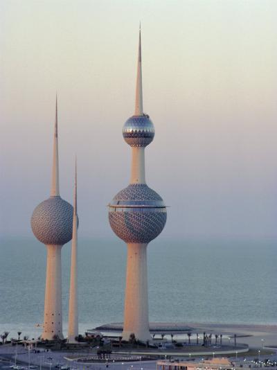 Water Towers, Kuwait City, Kuwait, Middle East-Peter Ryan-Photographic Print