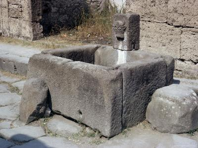 Water Trough, Pompeii, Campania, Italy-Walter Rawlings-Photographic Print