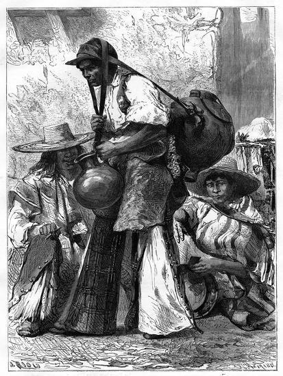 Water Vendor, Mexico, 19th Century-Edouard Riou-Giclee Print