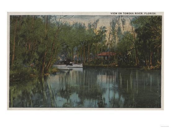 Water View of Tomoka River & Marsh, Florida - Florida-Lantern Press-Art Print