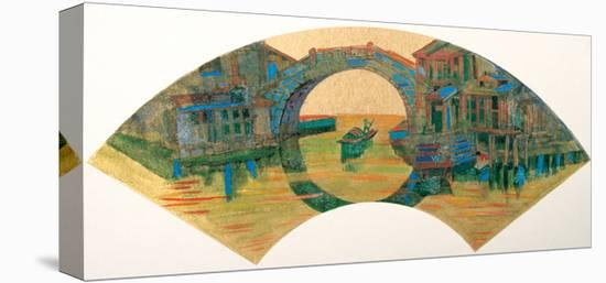 Water Village in Jiang Nan, China-Danni Ye-Stretched Canvas Print