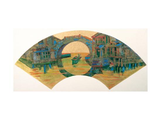 Water Village in Jiang Nan, China-Danni Ye-Giclee Print