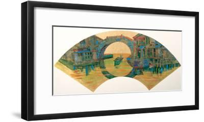 Water Village in Jiang Nan, China-Danni Ye-Framed Giclee Print