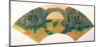Water Village in Jiang Nan, China-Danni Ye-Mounted Giclee Print