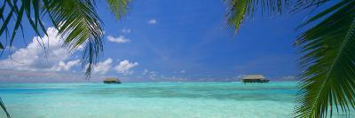 Water Villas and Tropical Lagoon, Maldives, Indian Ocean, Asia-Sakis Papadopoulos-Photographic Print