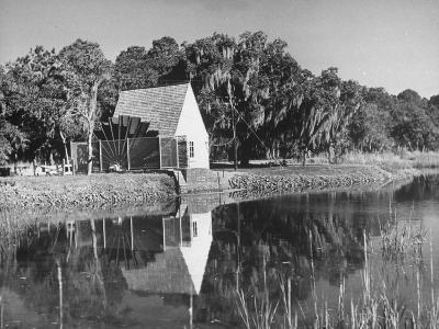 Water Wheel on the Boone Plantation, Owned by Thomas A. Stone--Photographic Print