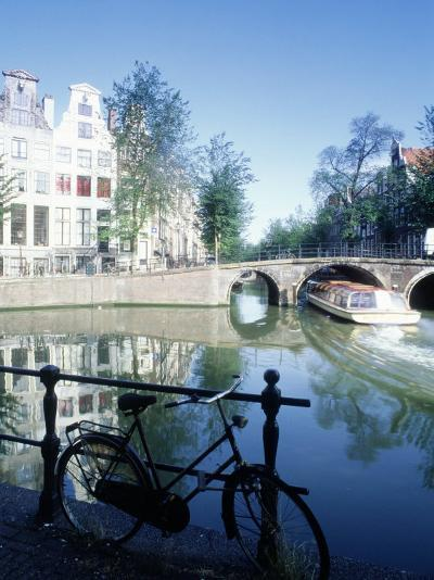 Water with Reflections, Amsterdam-Peter Adams-Photographic Print