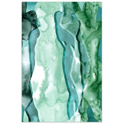 Water Women I - Free Floating Tempered Glass Wall Art