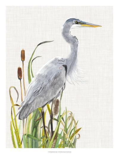 Waterbirds & Cattails I-Naomi McCavitt-Giclee Print
