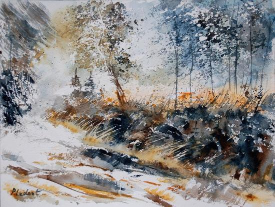 Watercolor 080207-Pol Ledent-Art Print