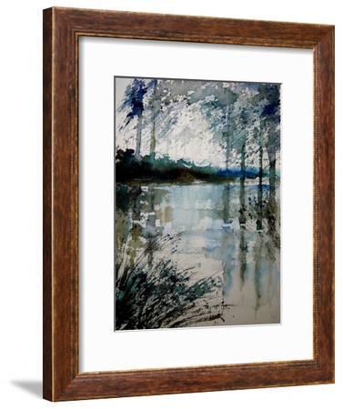 Watercolor 191205-Pol Ledent-Framed Art Print