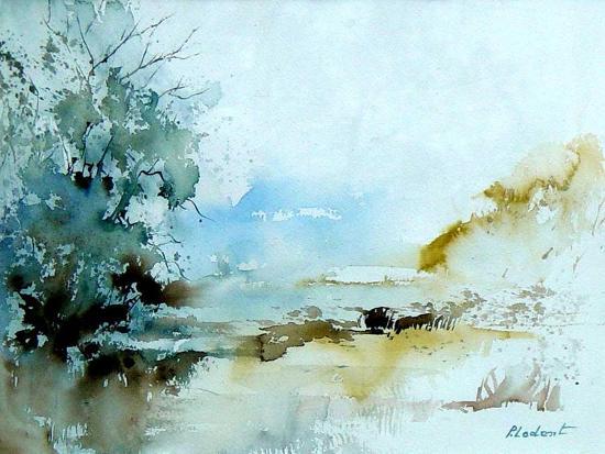 Watercolor 240405-Pol Ledent-Art Print