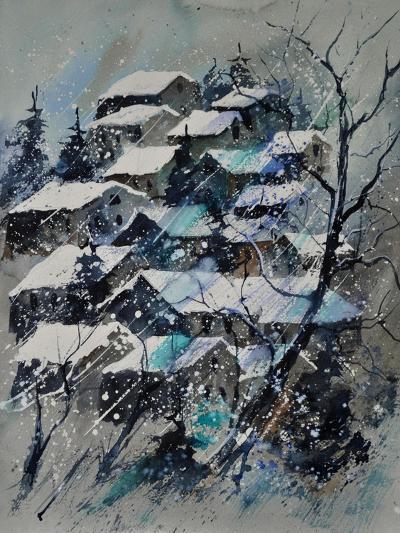 Watercolor 4121132 Snow Landscape-Pol Ledent-Art Print