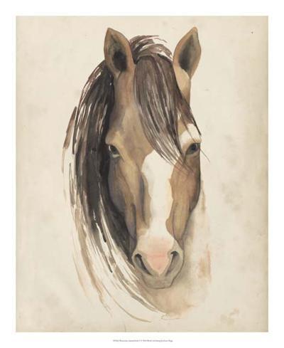 Watercolor Animal Study V-Grace Popp-Giclee Print
