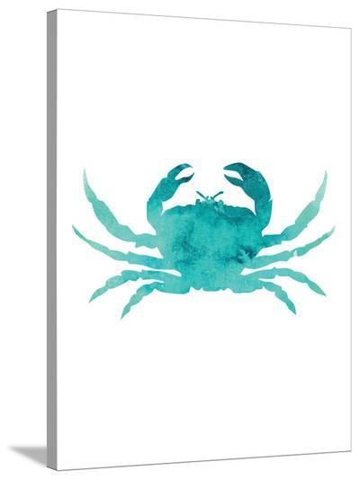 Watercolor Aqua Crab-Jetty Printables-Stretched Canvas Print