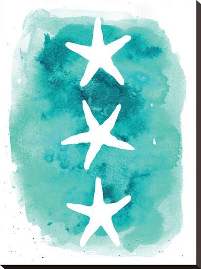 Watercolor Aqua Starfish 3-Jetty Printables-Stretched Canvas Print
