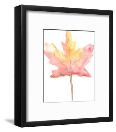 Watercolor Autumnal Fall Leaf-Jetty Printables-Framed Art Print