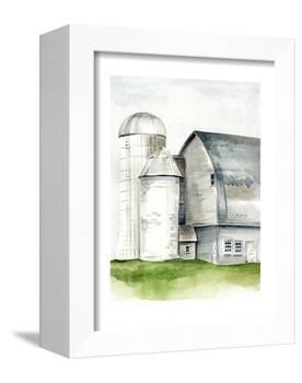 Watercolor Barn II-Jennifer Paxton Parker-Framed Stretched Canvas