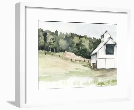 Watercolor Barn III-Jennifer Paxton Parker-Framed Art Print