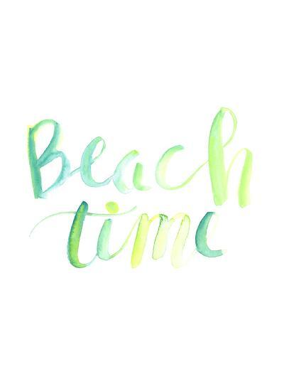 Watercolor Beach Time Typography-Jetty Printables-Art Print