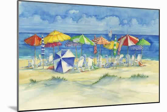 Watercolor Beach-Paul Brent-Mounted Art Print