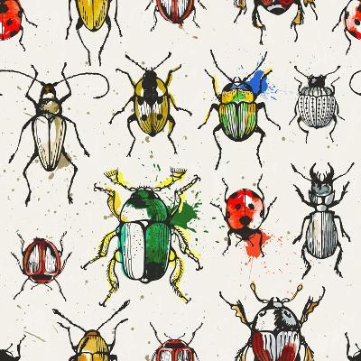 Watercolor Beetles-EV-DA-Art Print