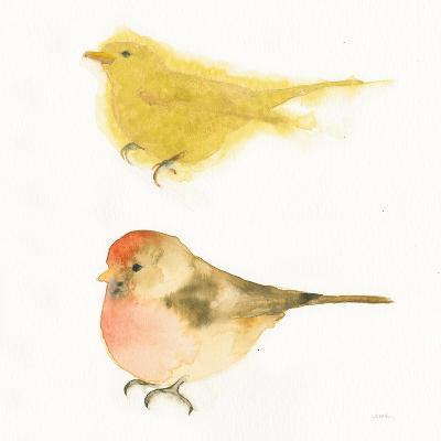Watercolor Birds I Sq-Shirley Novak-Art Print