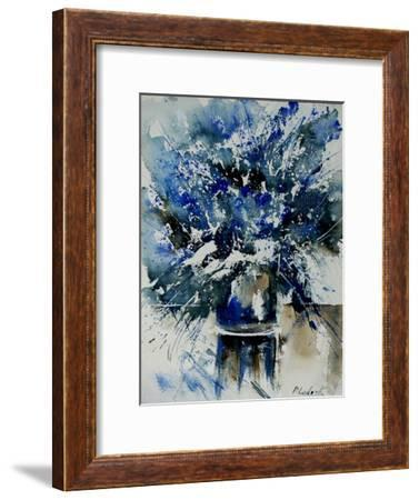 Watercolor Blue Bunch-Pol Ledent-Framed Art Print