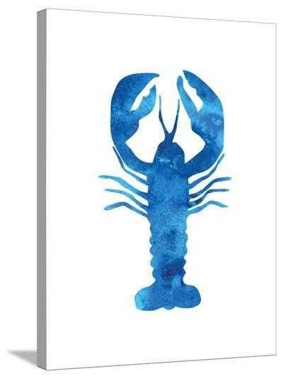 Watercolor Blue Lobster-Jetty Printables-Stretched Canvas Print