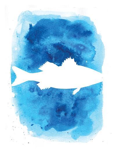 Watercolor Blue Sea Bass-Jetty Printables-Art Print