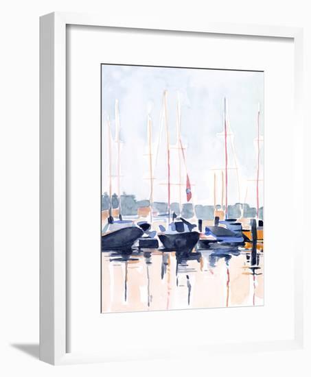 Watercolor Boat Club II-Emma Scarvey-Framed Art Print