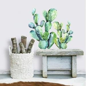 Watercolor Cactus Peel And Stick Giant Wall Decals