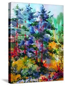 Watercolor Colorful Bright Textured Abstract Background Handmade . Mediterranean Landscape . Painti