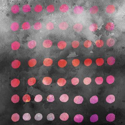 Watercolor Dots - Square-Lebens Art-Art Print
