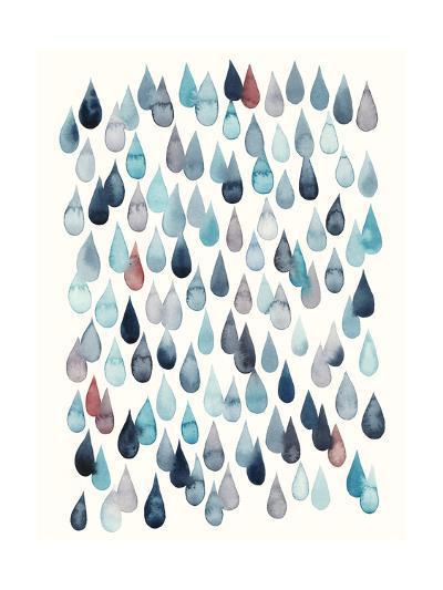 Watercolor Drops II-Grace Popp-Art Print