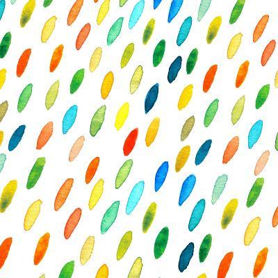 Watercolor Drops Pattern.-Maria Sem-Art Print