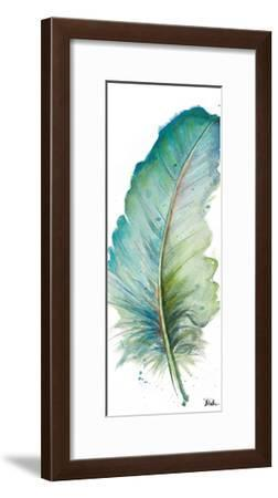 Watercolor Feather White IV-Patricia Pinto-Framed Art Print