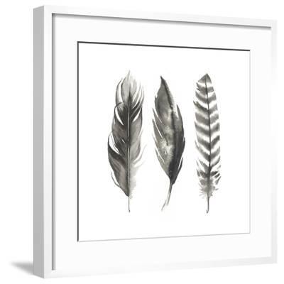 Watercolor Feathers I-Grace Popp-Framed Art Print