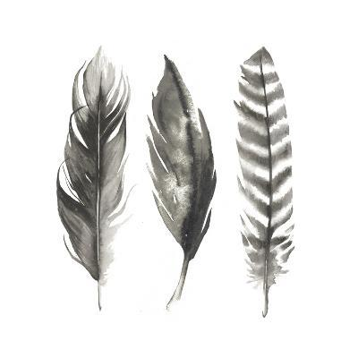 Watercolor Feathers I-Grace Popp-Art Print