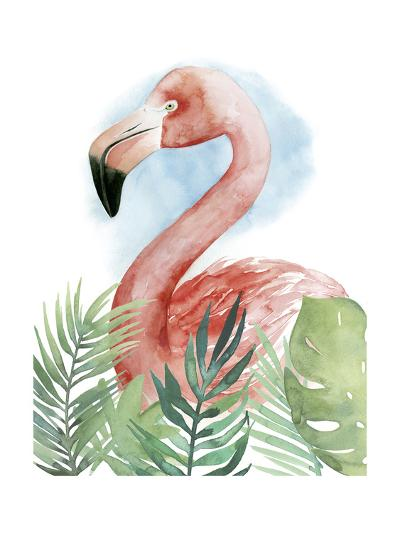 Watercolor Flamingo Composition II-Grace Popp-Art Print
