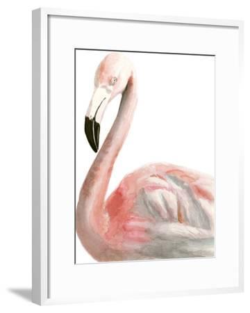 Watercolor Flamingo-Naomi McCavitt-Framed Art Print