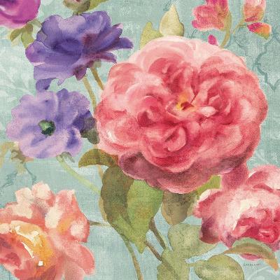 Watercolor Floral II on Grey-Danhui Nai-Premium Giclee Print