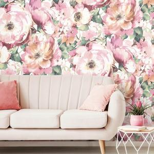 WATERCOLOR FLORAL REMOVABLE MURAL