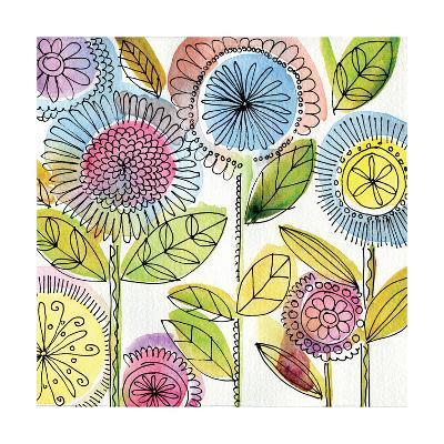 Watercolor Flowers-Anne Tavoletti-Art Print